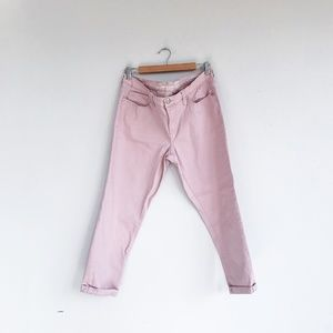 Seven7 Skinny Easy Fit Jeans Dusty Rose Pink Sz 12